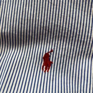Polo RL Classic Fit Mens Button Down Blue Stripe M